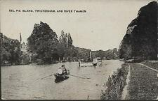 London - Eel Pie Island, Twickenham - postcard c.1910