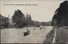 London - Eel Pie Island, Twickenham - postcard c.1910