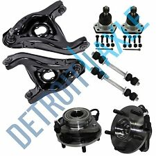8pc Wheel Bearing Control Arm Sway Bar Kit for Chevy Blazer Jimmy 5-Lug ABS 2WD