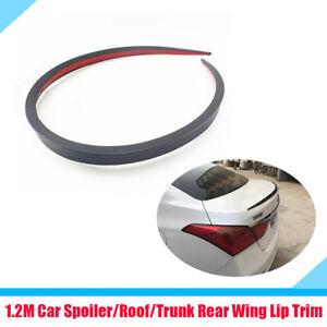 1.2m Flexible Auto Car SUV Rear Trunk Spoiler Rear Wing Lip Trim Strip Black