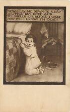 Katharine Gassaway~Lil Boy Prays~Back Flap Pj's~Lay Me Down~Patchwork Quilt~1909