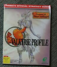 Valkyrie Profile Prima Official STRATEGY GUIDE - RARE Enix 2000 all 3 endings