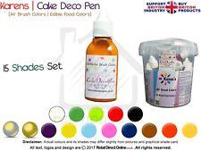 Air Brush Cake Decorating Edible Colours Spray Paints | 20 ML | 15 x Colours