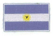 Fahnenaufnäher Flaggen Aufnäher Argentinien Argentina 6,5x4cm mit Bügelrückseite