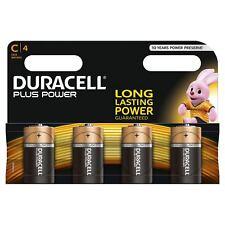4 X Duracell Plus Potencia C Tamaño MN1400 LR14 Pilas Alcalinas