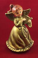 "Vintage Christmas Angel Harp Rotating Music Box ""Silent Night"" Made in Japan 7½"""