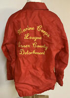 Marine Corps League Embroidered Veteran Red Rennoc Jacket 4 Military Patches