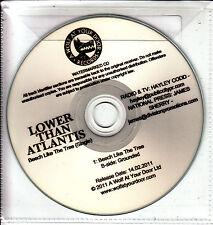 LOWER THAN ATLANTIS Beech Like The Tree UK watermarked 2-track promo test CD