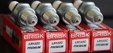 4X Brisk LR12ZC Spark Plug Lancia Fulvia Thema Lotus Elan Esprit Europa Excel