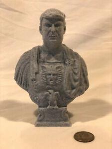 "Donald J. Trump statue (Caesar bust by Ferrucci) 3D Printed marble PLA 6"" MAGA"