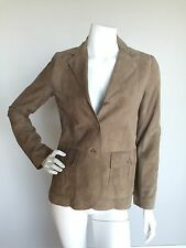 THEORY Sz S Beige 100% Leather Soft Suede Jacket