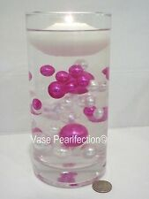 80 Unique Jumbo & Assorted Sizes Hot Pink & White Pearls Vase Fillers Value Pack