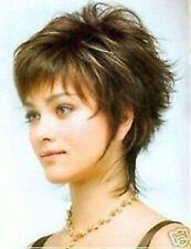 FIXSF200  short straight short brown mix blonde wigs for modern women's hair wig
