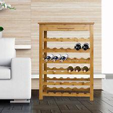 Wine Rack Holder 36 Bottle Display Cabinet with Drawer Kitchen Bar
