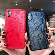 Cute for iPhone Xs Max X 8 7 Lovely Mickey Mouse Disney Case 3D PU Leather Cover