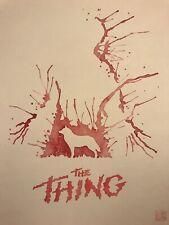 David Mack original art watercolor John Carpenter The Thing
