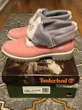 Timberland Roll Top 31395 Pink Gray White Leather Lace Up Women's Boots Size 9.5