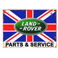 Land Rover Metal Garage Sign Parts Service Retro Vintage Sign Man Cave Defender