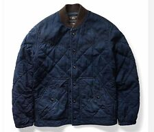 $790 RRL Ralph Lauren Japanese Indigo Dyed Quilted Cotton Ranch Jacket Coat- M