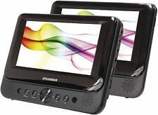 "Sylvania SDVD8739 7"" Portable Dual Screen DVD Player w/ Vehicle Headrest Mount"
