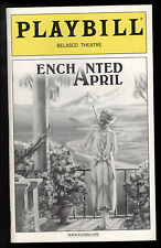 Enchanted April Belasco Theatre Playbill 2003 NYC Eliz Ashley Molly Ringwald VF