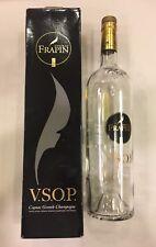 Rare! Frapin VSOP Grande Cognac~Empty Bottle 1000ml 1L & Box~Cork Cap~France