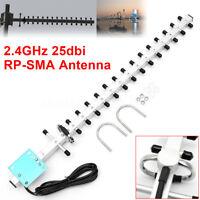 RP-SMA 2.4GHz 25dBi Directional Outdoor Wireless Yagi Antenna WiFi For Router