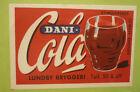 OLD SOFT DRINK CORDIAL LABEL, 1950s LUNDBY BRYGGERI DENMARK, DANI COLA 1
