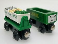 Thomas the Train Wooden Railway Sodor Recycling Cars Bins lot