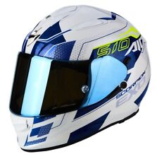 CASCO HELMET MOTO INTEGRALE SCORPION EXO 510 AIR GALVA WHITE BIANCO BLU TG L