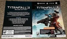 Titanfall 2 Pre Sale Video Game Inserts NEW PS4 XBox One 1