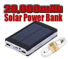 20000mah solar power bank with Two USB Ports compatible with all smartphones