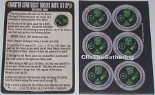 MASTER STRATEGIST TOKENS+REFERENCE CARD Star Trek Attack Wing Peak Performanc OP