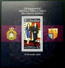*FREE SHIP Gibraltar Royal Engagement 2010 Wedding (ms) MNH