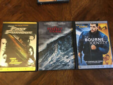Lot 3 Dvds The Fast And The Furious, The Perfect Storm & Bourne Identity Action
