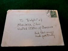 Vintage China Postal Cover Envelope Stamped Canceled to US