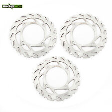 3x ATV Front Rear Brake Rotors For Arctic 250 300 400 500 PROWLER 700 1000 12-17