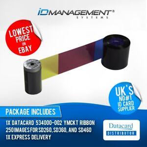 Datacard YMCKT Colour Ribbon for SD260, SD360, SD460 Printers • 250 Prints