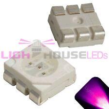 100 x LED PLCC6 5050 Pink SMD LEDs SMT Light Super Ultra Bright Light Car PLCC-6