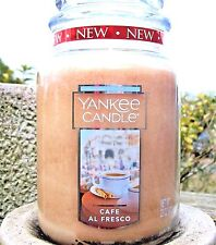 "Yankee Candle ""CAFE AL FRESCO"" Large 22 oz.~WHITE LABEL~NEW"