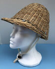 RARE vintage 1940s CHINESE HARDHAT Bamboo Rattan