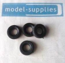 Dinky 105 MSV reproduction 17mm O/D black treaded tyres (set of 4)