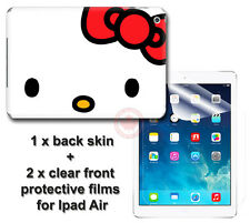 Hello Kitty Classic SKIN STICKER COVER and 2 protected films Apple for iPad Air