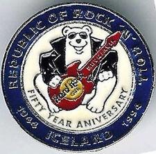 Hard Rock Cafe REYKJAVIK 1994 National Day PIN Polar Bear Guitar WHITE HRC #7830