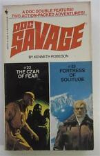DOC SAVAGE CZAR OF FEAR #22 FORTRESS SOLITUDE #23 KENNETH ROBESON BANTAM 1982 PB