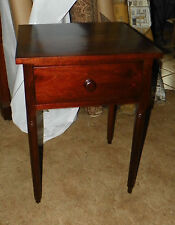 Solid Walnut 2 Board Top Period Work Table with Drawer  (T158)