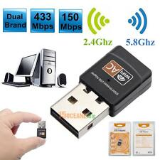 600Mbps Dual Band 2.4G / 5G Hz Wireless Lan USB PC WiFi Adapter Dongle 802.11AC
