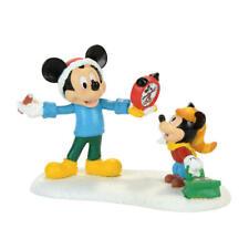 DEPT 56 Mickey Christmas Village - MICKEY'S AUTOGRAPH CLOCK Figure/Figurine