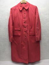 Vintage Misty Harbor LTD Rain Coat Rose Pink Buoy Cloth Button Front Beltless