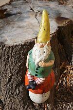 "20""H Large Resin Mushroom Gnome Patio Garden Figurine Nwt"
